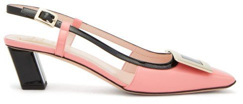 Belle Vivier Patent-leather Slingback Pumps - Pink