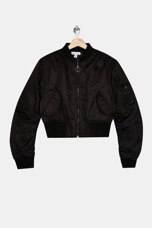 Black Bomber Jacket | Topshop
