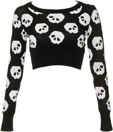 Jawbreaker Skulls Cropped Jumper   Best Halloween Skull and Skeleton Fashion   POPSUGAR Fashion UK Photo 4