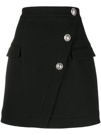 Balmain button-embellished Mini Skirt - Farfetch