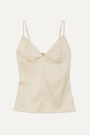Ivory Stretch-silk satin camisole | Bottega Veneta | NET-A-PORTER