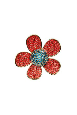 Marc Jacobs - Embellished Daisy Brooch Set - multicolored