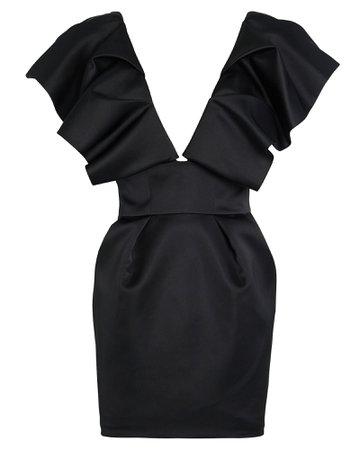 Alexandre Vauthier | Ruffled Satin Mini Dress