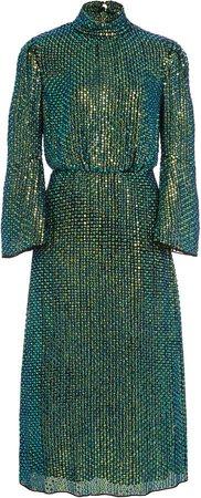 Temperley London Billie Sequined Georgette Midi Dress
