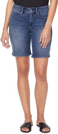 Ella Side Slit Denim Shorts