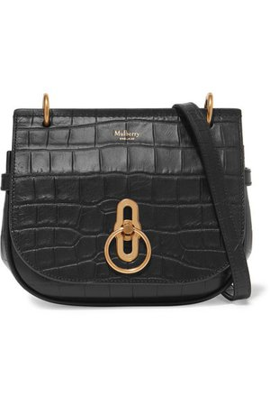 Mulberry | Amberley small croc-effect leather shoulder bag | NET-A-PORTER.COM
