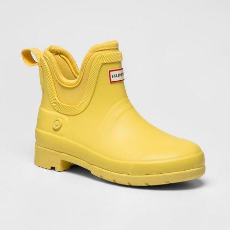 Yellow Hunter Boots