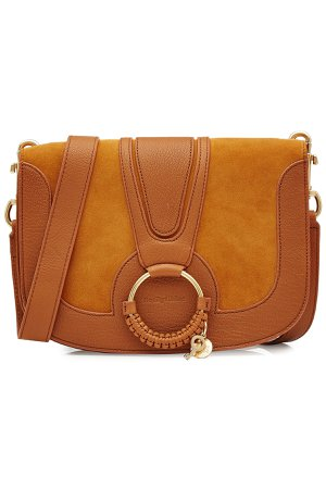 Shoulder Bag with Leather and Suede Gr. One Size