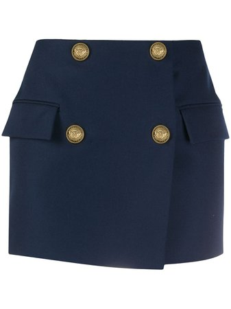 Balmain double-breasted Wool mini-skirt - Farfetch