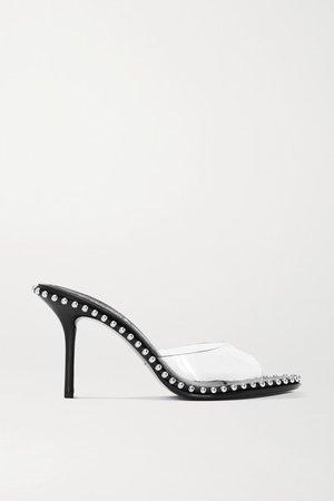 Nova Studded Leather And Pvc Sandals - Black