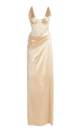 Maeve Silk-Satin Gown by Jonathan Simkhai | Moda Operandi