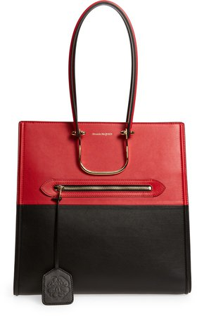 The Tall Story Colorblock Leather Tote
