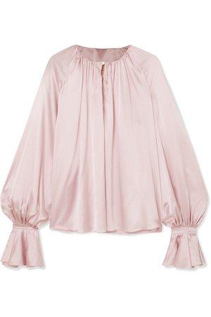 Roksanda | Pia gathered silk-satin blouse | NET-A-PORTER.COM