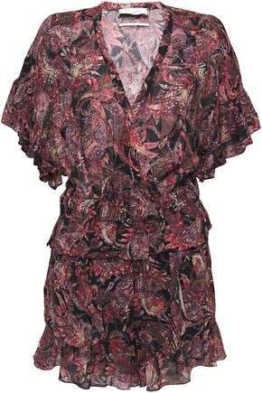 Serene Ruffled Printed Cotton-gauze Playsuit