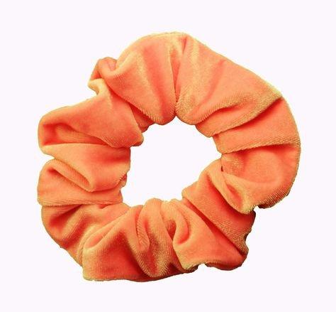 orange velvet scrunchie filler png