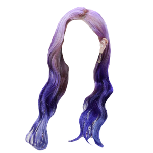 Purple  Blue Hair PNG