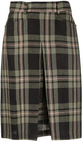 Regina checked a-line skirt