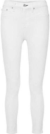 Cropped High-rise Skinny Jeans - White