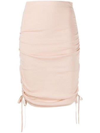 Laneus Side Tie Fastening Skirt GND1410 Neutral | Farfetch
