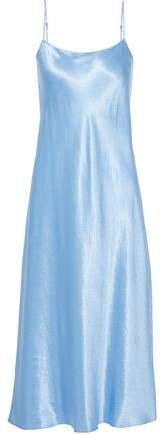 Crinkled-satin Midi Slip Dress