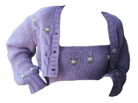 purple sweater top png