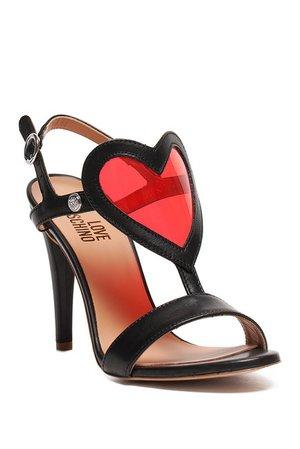 LOVE Moschino   Heart Accent Stiletto Sandal   Nordstrom Rack