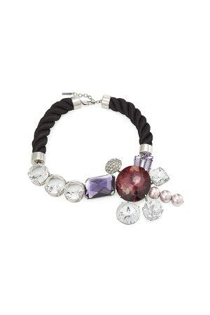 Rhinestone Cluster Bracelet Gr. One Size