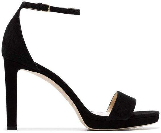 black Misty 100 suede platform sandals