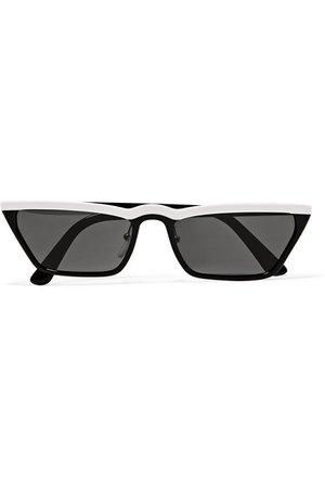 Prada | Cat-eye two-tone acetate sunglasses | NET-A-PORTER.COM