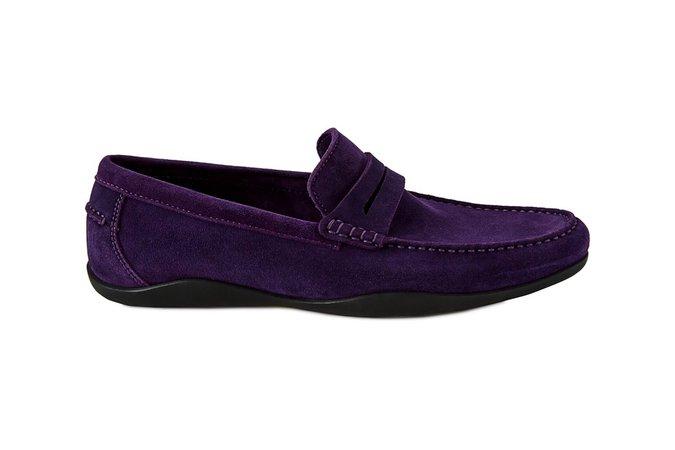 Basel 4 - Kudu Suede Purple | Men's Leather Penny Loafer | Harrys of London | Harrys of London