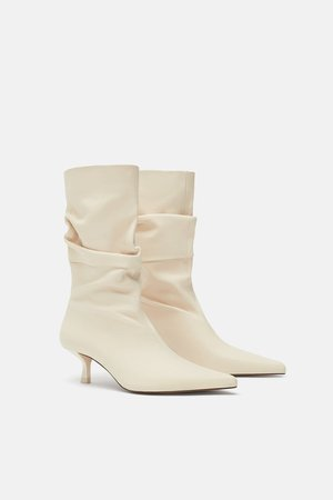 HIGH HEELED LEATHER BOOTS - View all-SHOES-WOMAN | ZARA United States
