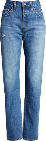 501® High Waist Straight Leg Jeans | Nordstrom