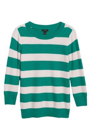 Halogen® x Atlantic-Pacific Three Quarter Sleeve Sweater   Nordstrom