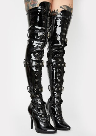 Pleaser Seduce Thigh High Boots | Dolls Kill