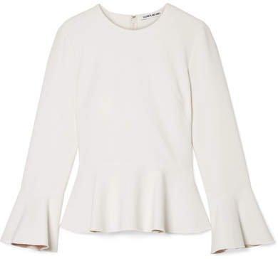 Ruthe Cady Peplum Top - Off-white