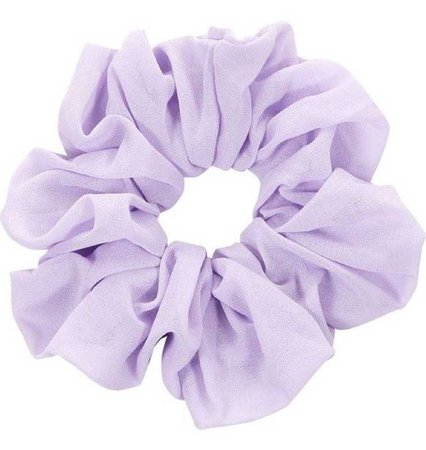 light purple scrunchie