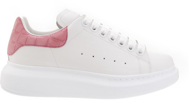 White And Pink Woman Oversized Sneakers