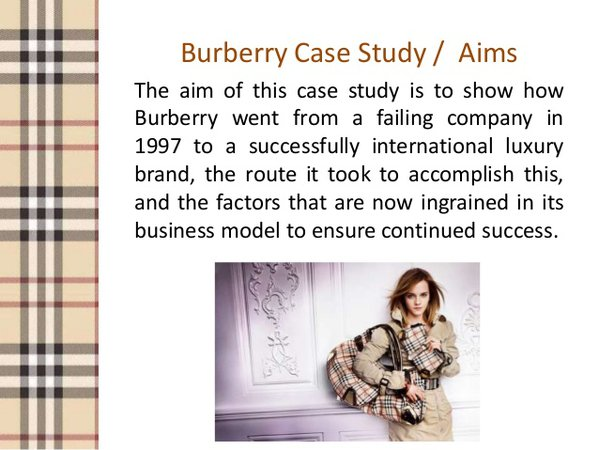 Burberry business&branding model