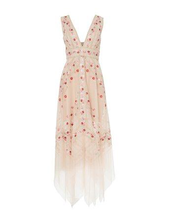 Crochet Detail Evening Dress – BCBGMAXAZRIA