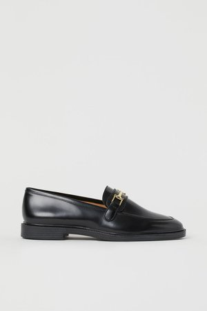 Leather Loafers - Black - Ladies | H&M US
