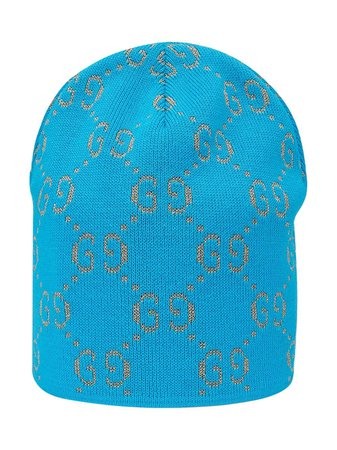 Gucci Kids Cotton Hat With GG Motif In Lamé - Farfetch
