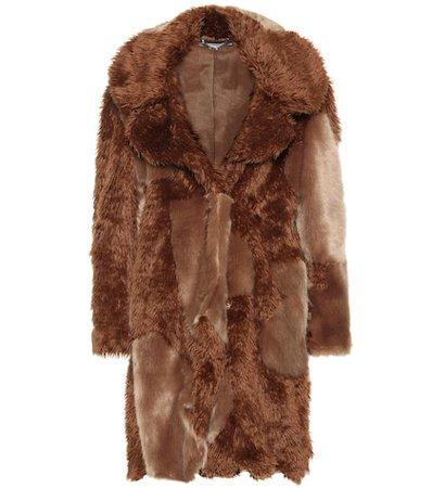 Sugar Cane faux fur coat