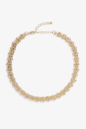 Chunky gold chain necklace - Gold - Jewellery - Monki WW