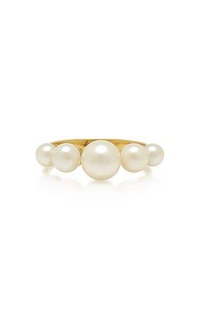 18K Gold And Pearl Ring by Irene Neuwirth   Moda Operandi