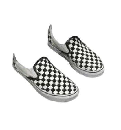 Vans Classic Slip On Trainers Black White Check