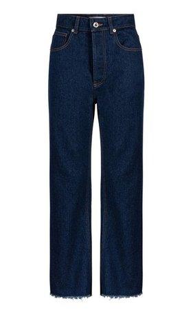 Rigid High-Rise Straight-Leg Jeans By Paco Rabanne   Moda Operandi