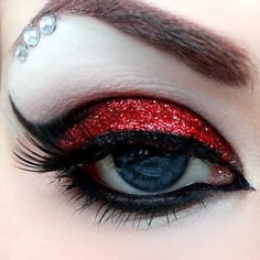 Glam Goth Harlequin Eye Makeup