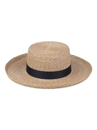 Lack of Color The Violette Straw Boater Hat | SaksFifthAvenue