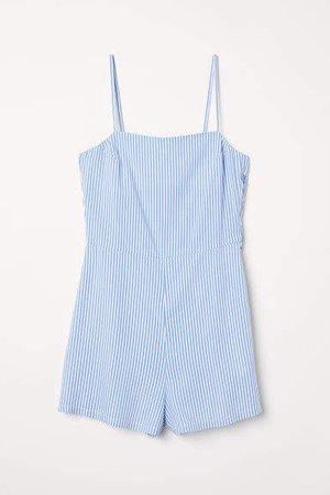 Sleeveless Jumpsuit - Blue