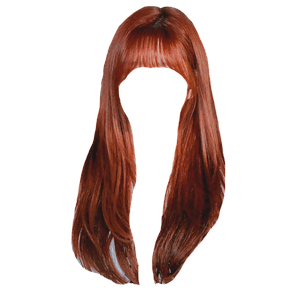 Red Ginger Auburn Bangs Hair PNG